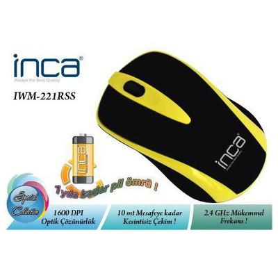 Inca IWM-221RSS Kablosuz Mouse - Sarı