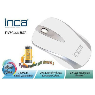 Inca IWM-221RSB Kablosuz Mouse - Beyaz