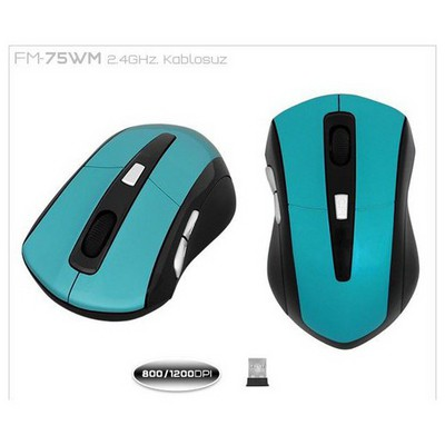 Frisby Fm-75wm 2.4ghz Optik Usb Kablosuz  Yeş Mouse