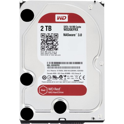"WD 2tb Red Nas  3.5"" Sata 3 Intellipower 64mb Wd20efrx Hard Disk"