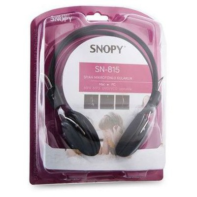 Snopy Sn-815 Kafabantlı Sıyah Mıkrofonlu Kulaklık Kafa Bantlı Kulaklık