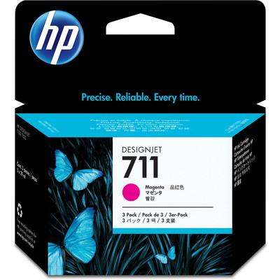 HP CZ135A 711 3'LÜ Kırmızı Kartuş