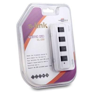S-Link Sl-250 4 Port Usb 2.0 Çoklayıcı USB Aksesuarı