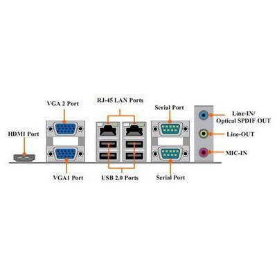 Merlion MiniPC NF9B  Cedar Trail-D Processor D2550 2 GB 32 GB SSD Linux Mini PC