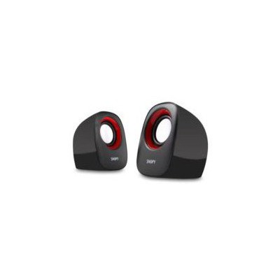 Snopy SN-120 1+1 USB Speaker - Siyah/Kırmızı