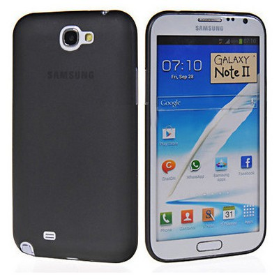Microsonic 0.2mm Ultra Ince Kılıf Samsung Galaxy Note 2 N7100 Siyah Cep Telefonu Kılıfı