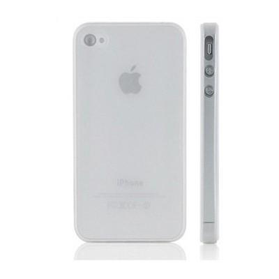 Microsonic 0,35mm Ultra Ince Iphone 4 / 4s Kılıfı Beyaz Cep Telefonu Kılıfı