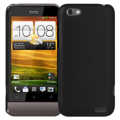 Microsonic Rubber Hard Case Kılıf- Htc One V Siyah Cep Telefonu Kılıfı