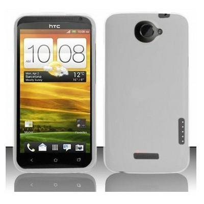 Microsonic Rubber Hard Case Kılıf- Htc One X Beyaz Cep Telefonu Kılıfı