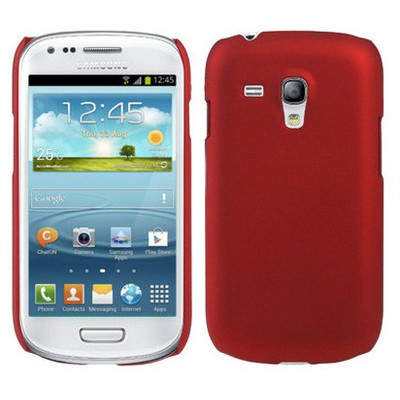 Microsonic Rubber Kılıf Samsung Galaxy I8190 S3 Mini Kırmızı Cep Telefonu Kılıfı