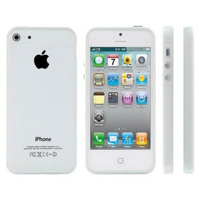 Microsonic Iphone 5 & 5s Bumpers Çerçeve Kılıf Beyaz Cep Telefonu Kılıfı