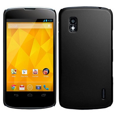 Microsonic Rubber Kılıf Lg Galaxy Nexus 4 E960 Siyah Cep Telefonu Kılıfı