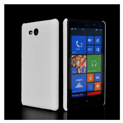 Microsonic Rubber Kılıf Nokia Lumia 820 Beyaz Cep Telefonu Kılıfı