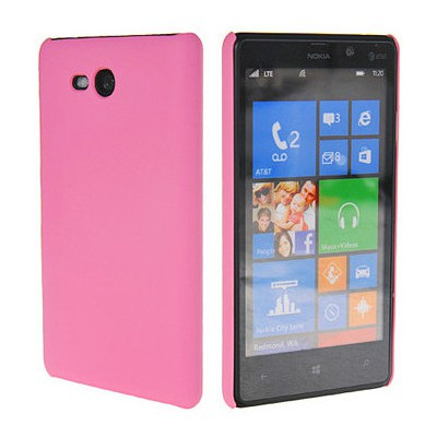 Microsonic Rubber Kılıf Nokia Lumia 820 Pembe Cep Telefonu Kılıfı
