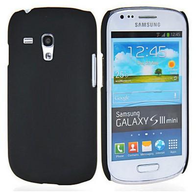 Microsonic Rubber Kılıf Samsung Galaxy S3 Mini I8190 Siyah Cep Telefonu Kılıfı