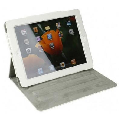 Microsonic Cute Desenli Kickstand Ipad2-3-4 Deri Kılıfı Beyaz Tablet Kılıfı