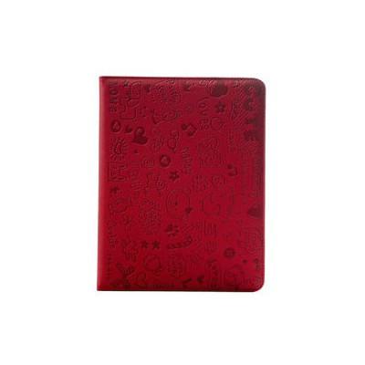 Microsonic Cute Desenli Kickstand Ipad2-3-4 Deri Kılıfı Kırmızı Tablet Standı