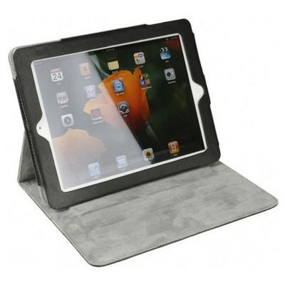 Microsonic Cute Desenli Kickstand Ipad2-3-4 Deri Kılıfı Siyah Tablet Kılıfı