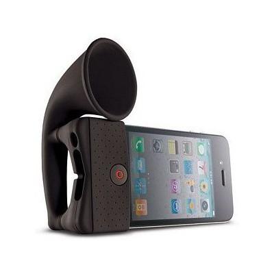 Microsonic HRN110 iPhone 4 / iPhone 3 Portatif Horn Stand speaker Siyah Speaker