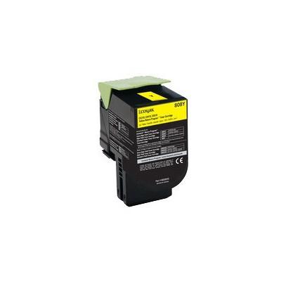 Lexmark 80C80Y0 Sarı Toner