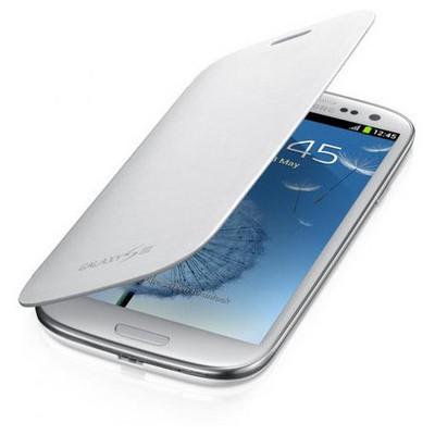 Microsonic Delux Kapaklı Kılıf Samsung Galaxy S3 I9300 Beyaz Cep Telefonu Kılıfı