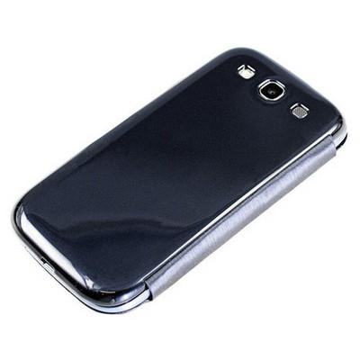 Microsonic Delux Kapaklı Kılıf Samsung Galaxy S3 I9300 Siyah Cep Telefonu Kılıfı