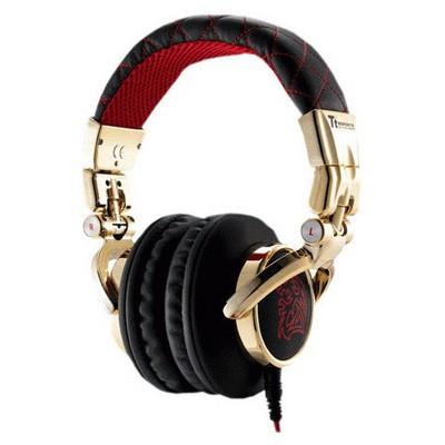 Thermaltake HT-DRS007OERE Thermaltake DRACCO SIGNATURE Kırmızı Profesyonel Müzik Kulaklığı Kafa Bantlı Kulaklık