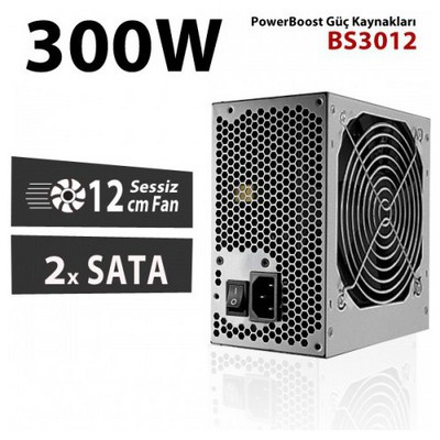 Boost Power Bs-3012 300w 12cm Fan, Atx Power Supply (retail Box) Güç Kaynağı