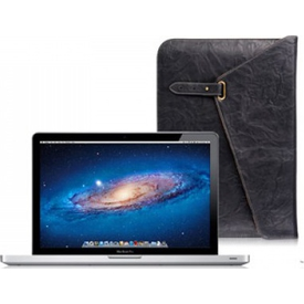 "Luxa2 Metropolitan 13"" Mac Book Pro Ince Deri Zarf Kılıf - Siyah Tablet Kılıfı"