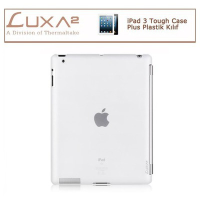 Luxa2 Ipad 3 Tough Case Plus Plastik Kılıf - Beyaz Tablet Kılıfı