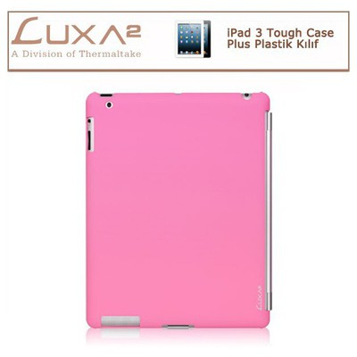 Luxa2 Ipad 3 Tough Case Plus Plastik Kılıf - Pembe Tablet Kılıfı