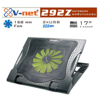 V-net 292z Notebook Cooler 16cm Fan, 2xusb Port Notebook Soğutucu