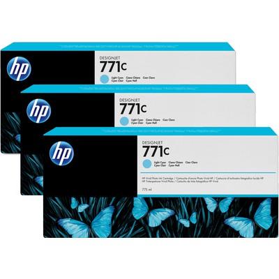HP B6Y36A 771C 3'lü Açık Cam Göbeği Kartuş