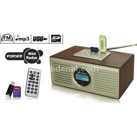Kamosonic KS-MR114 SD/MMC/USB/MP3 MİNİ RADİO Oto Radyosu