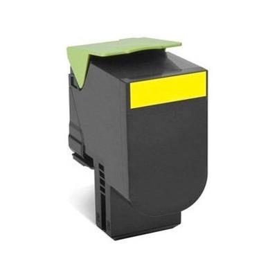 Lexmark 80C8HY0 Sarı Toner