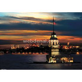 Anatolian 1000 Parça Neon  Kız Kulesi Puzzle