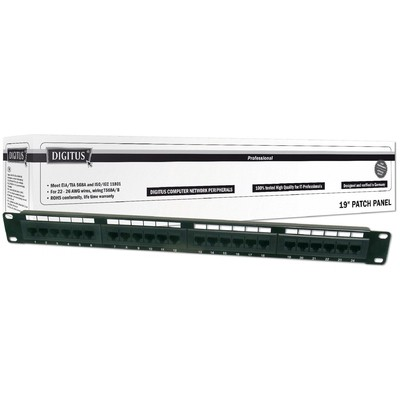 Digitus Dn-91524u 19 Inch 24 Port Cat-5e Utp Patch Panel, 50 Μ (mikron), Altın Kontak, Ağ / Modem Aksesuarı