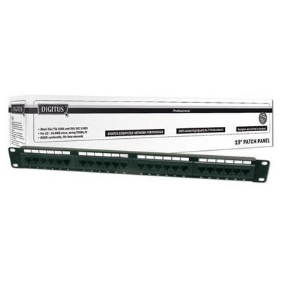 "Digitus Dn-91624u 19"" 24 Port Cat-6 Utp Patch Panel, 8p8c, 50 Μ (mikron), Altın Kontak, Ağ / Modem Aksesuarı"