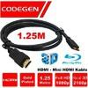 Codegen CPS-18 Altın Uçlu HDMI - Mini HDMI Kablo - 1.25m