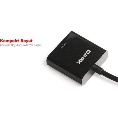 Dark DK-HD-AHDMICROXVGA Micro HDMI - VGA Aktif Dijital -Analog Dönüştürücü Çevirici Adaptör