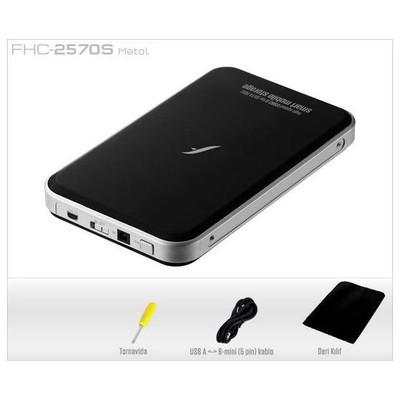 "Frisby FHC-2570S 2.5"" SATA USB 2.0 HDD KUTU SİYAH RENKLİ Harici Disk Kutusu"