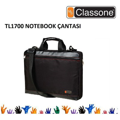"Classone TL1700 17"" Top Loading Serisi Notebook Çantası Siyah"