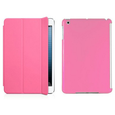 Microsonic Ipad Mini 2in1 Smart Case + Arka Koruma Kılıf Pembe Tablet Kılıfı