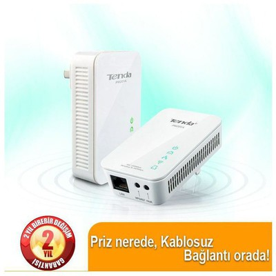 Tenda PW201A HOMEPLUG 1 PORT Kablosuz 200/300MBPS Access Point / Repeater