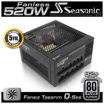 Seasonic Platinum 520w Fansız Güç Kaynağı (SEA-P520FL)
