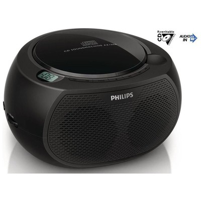Philips AZ100B/12 Taşınabilir  Siyah Müzik Seti