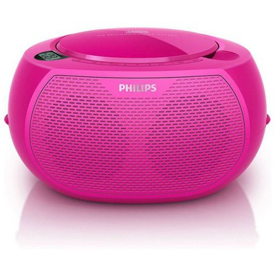 Philips Az100c/12 Portatif -pembe Müzik Seti