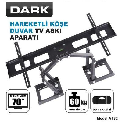 """Dark DK-AC-VT32 37-70"""" Hareketli Köşe ve Duvar Terazili TV Askı Aparatı Televizyon Aksesuarı"""