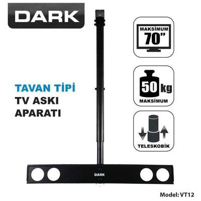 """Dark Dk-ac-vt12 37""""-70"""" Tavan Tv Askı Aparatı Televizyon Aksesuarı"""