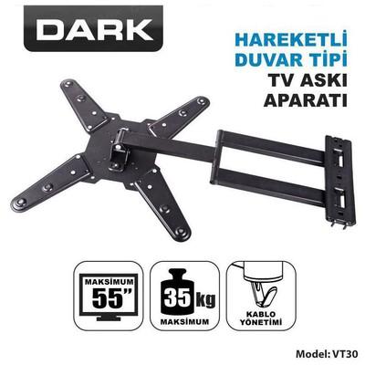 """Dark DK-AC-VT30 23-55"""" Hareketli Duvar TV Askı Aparatı"""